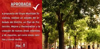 Iniciativa arbolado PSOE Madrid Centro